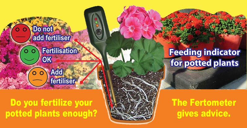 the fertometer is a feeding indicator for potted plants